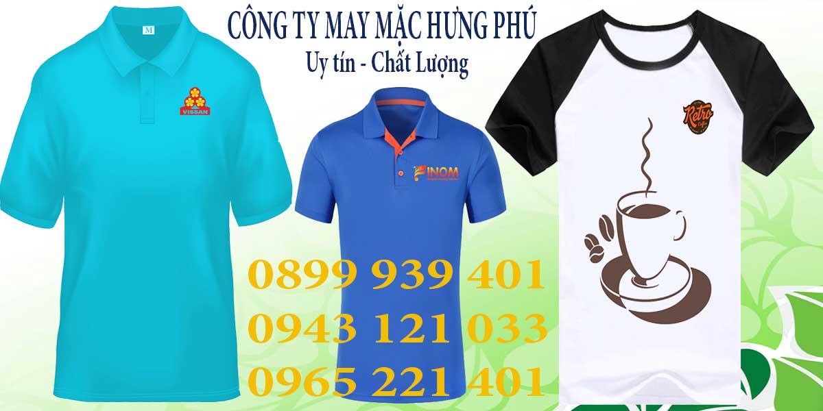 May áo thun đồng phục công sở theo yêu cầu tại Hưng Phú