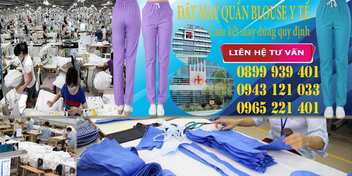 Xưởng may quần blouse cho các đơn vị yêu cầu