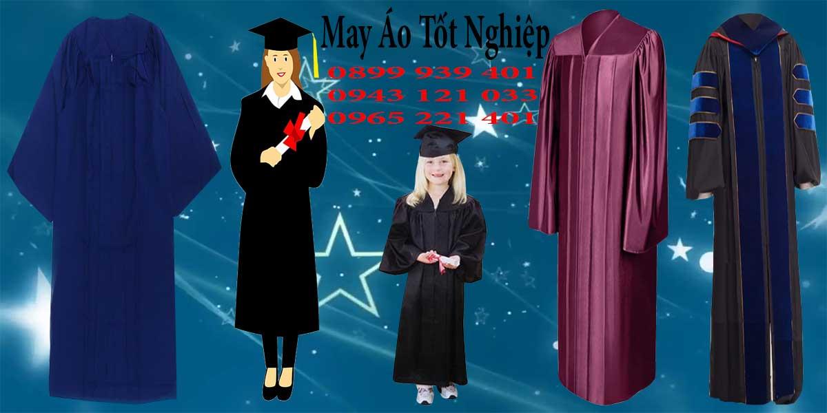 May áo tốt nghiệp phổ biến ở mọi cấp học