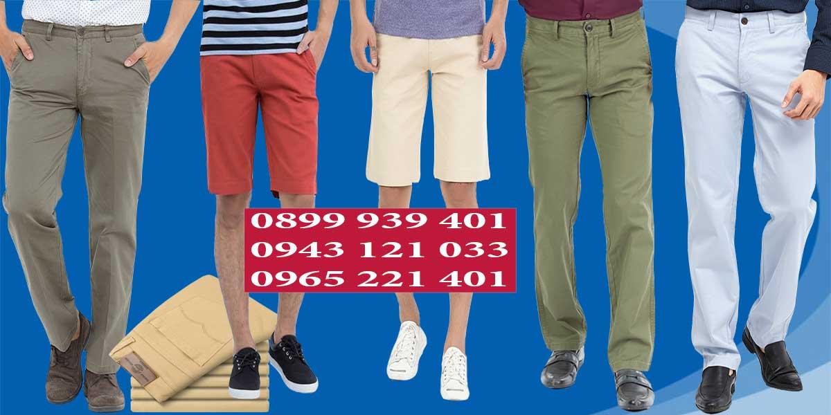 Các mẫu may quần kaki nam cơ bản tại Hưng Phú