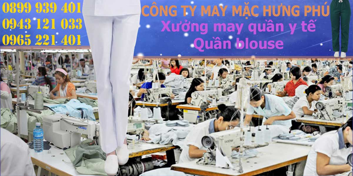Quá trình may quần blouse của May mặc Hưng Phú