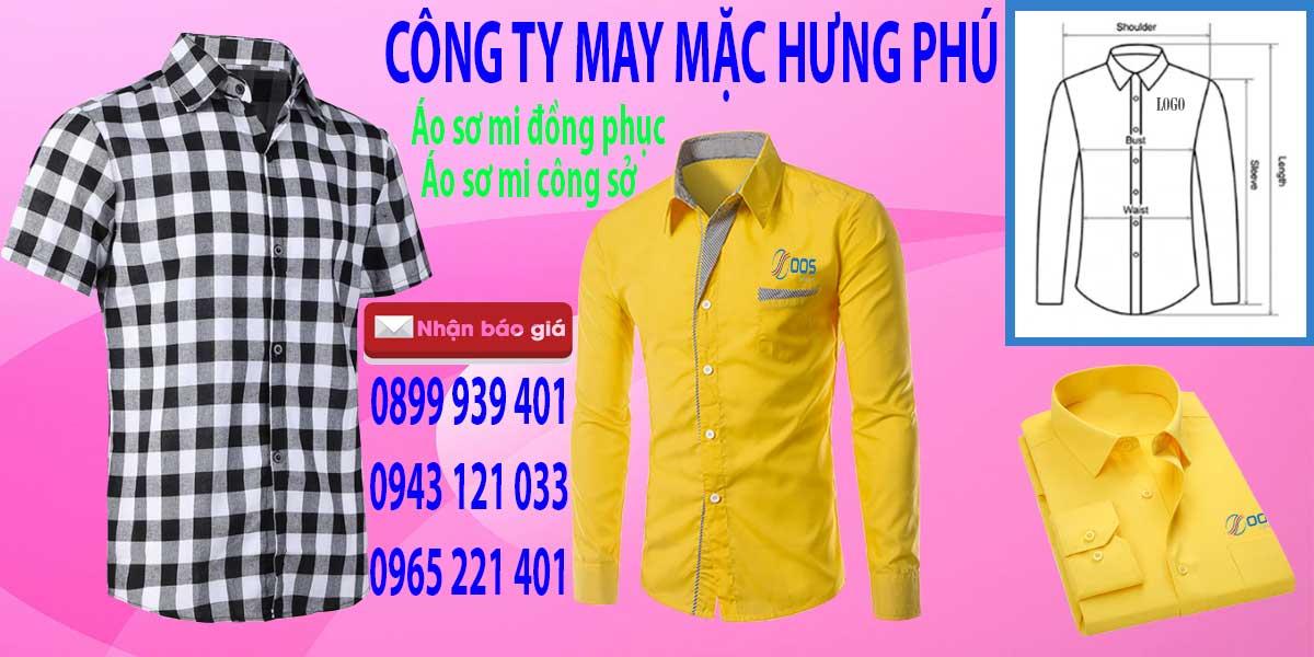 Một số mẫu áo sơ mi mà Hưng Phú đã sản xuất