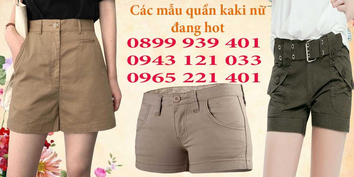 Các mẫu quần kaki nữ khách hàng đã từng đặt tại Hưng Phú