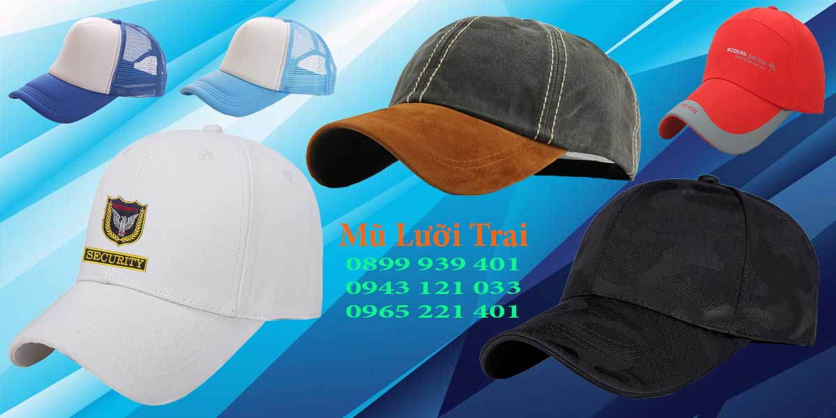 Sản xuất mũ lưỡi trai theo yêu cầu khách hàng