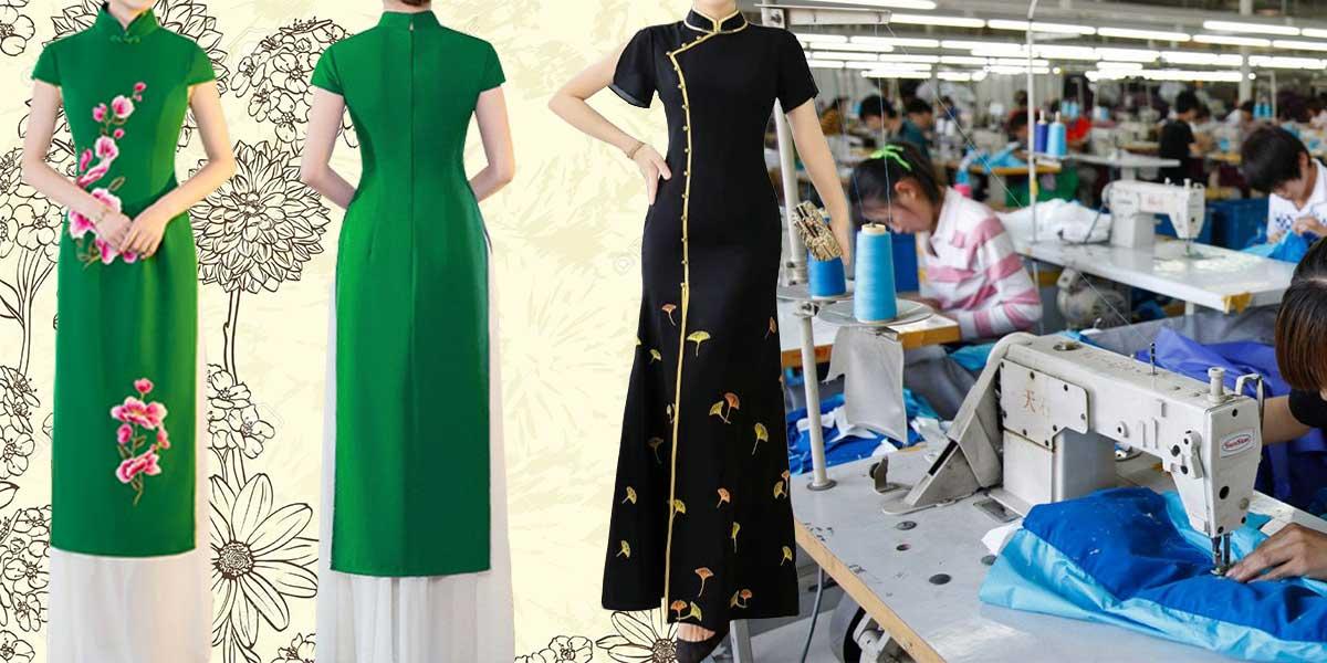 Xưởng may áo dài chuyên nghiệp với đội ngũ nhân viên lành nghề