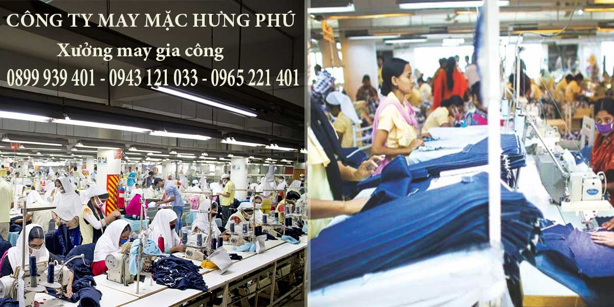 Các mẫu quần áo được thực hiện bởi xưởng may gia công của công ty