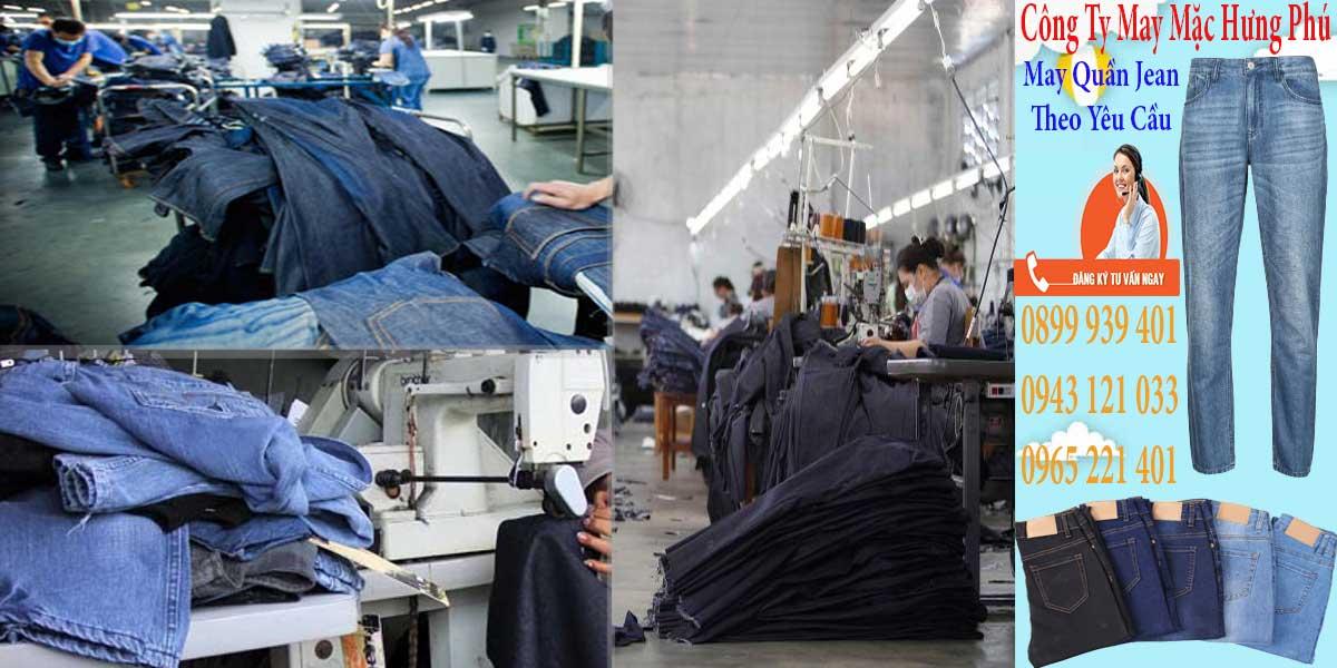 Xưởng may quần jean nam, nữ theo yêu cầu