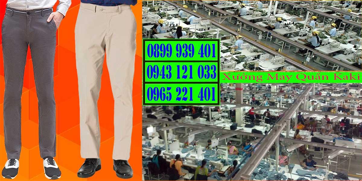 Xưởng may quần kaki đẹp và chất lượng
